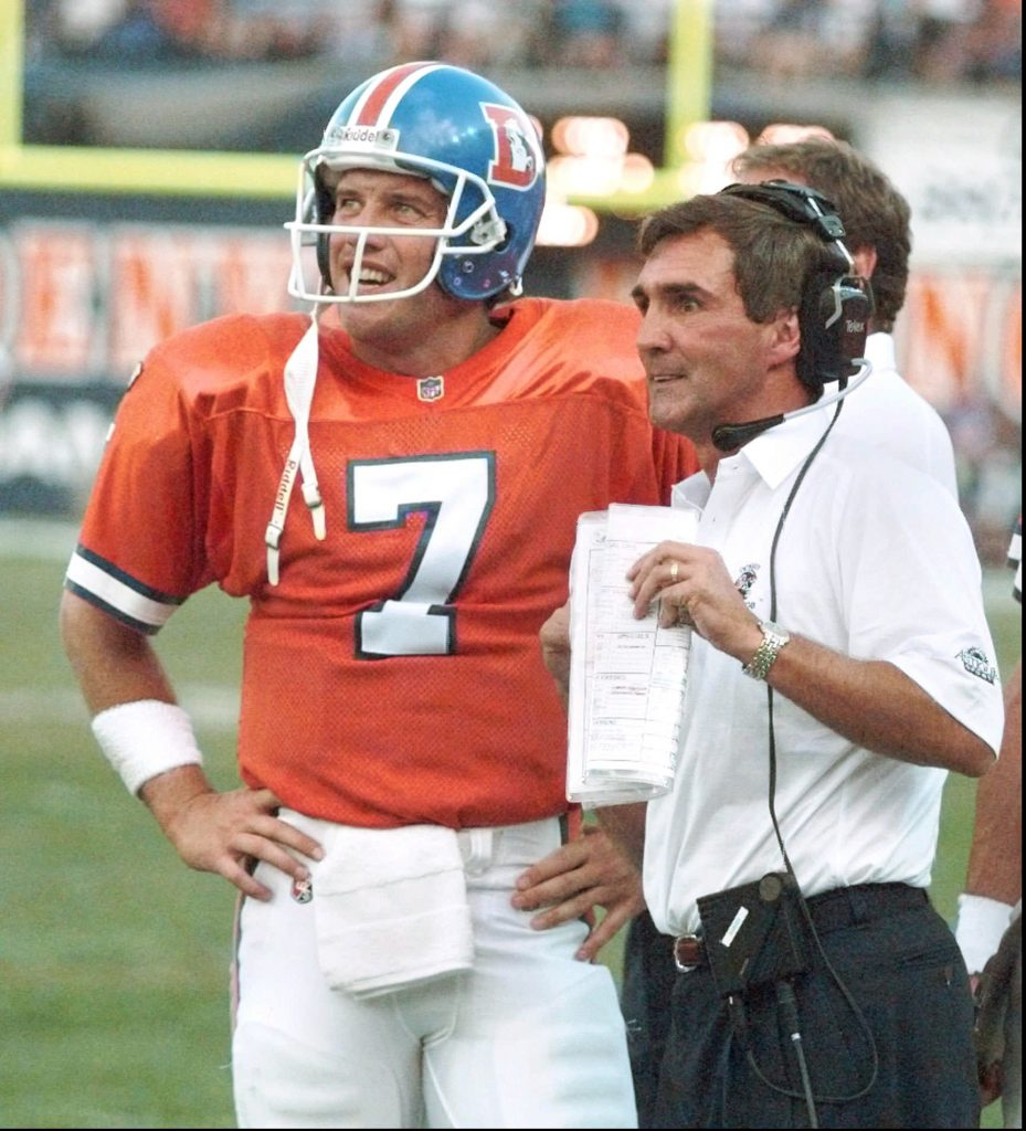 JOHN ELWAY and MIKE SHANAHAN