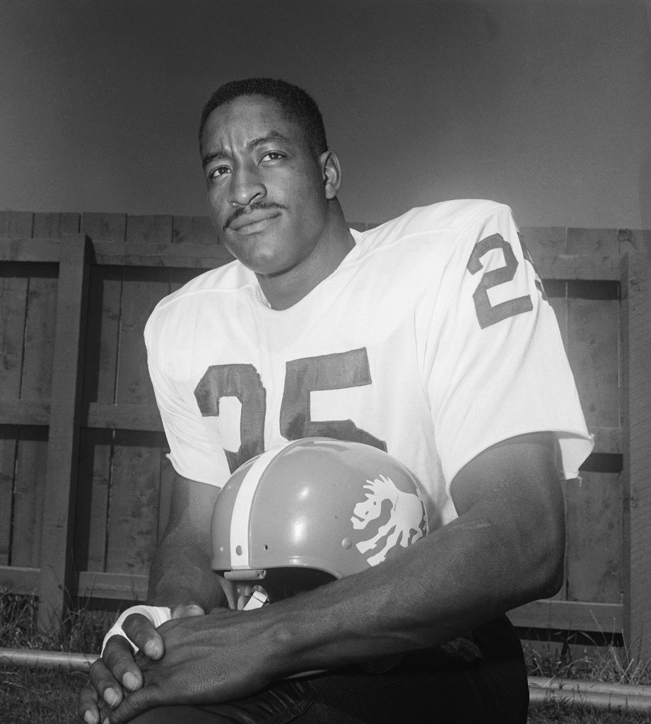 Gene Mingo, of the Denver Broncos, poses. (AP Photo)