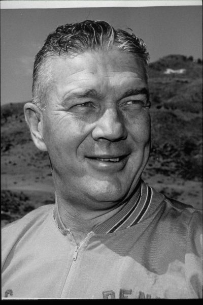 A head shot of head coach (1964-1966) Mac Speedie