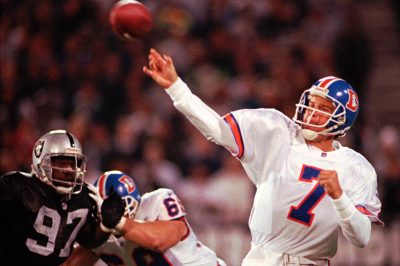John Elway against the Raiders