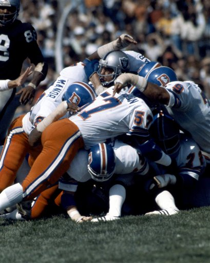 Broncos vs. Raiders NFL game in Oakland, Sept. 30, 1979