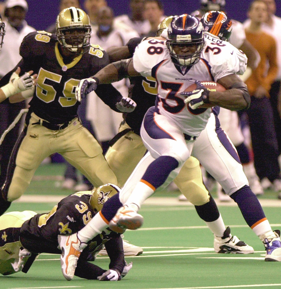 Denver Broncos running back Mike Anderson