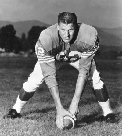 Denver Broncos center Jim Barton (52) circa 1962.