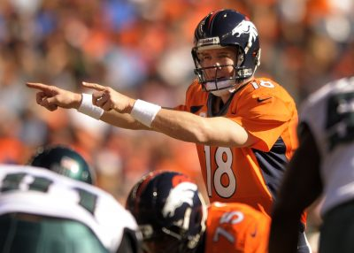 Peyton Manning calls an audible