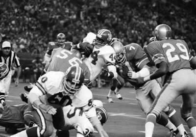 Denver Broncos running back Floyd Little (44)