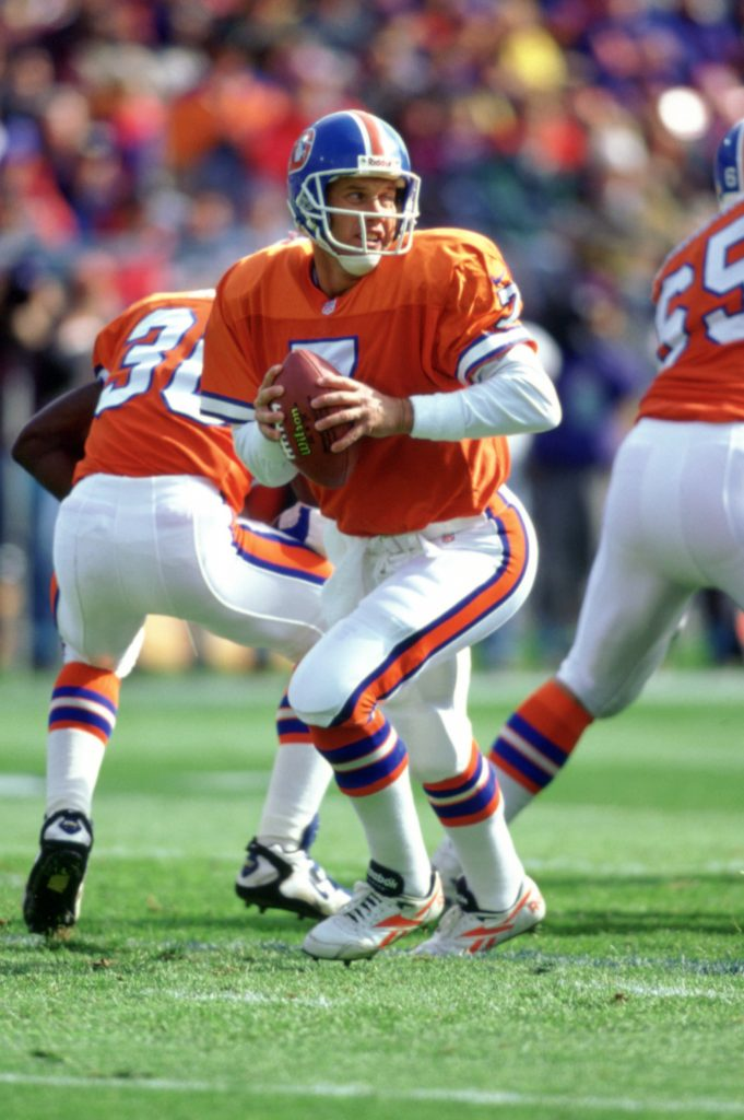 63ab0641b5a Quarterback John Elway was the Broncos  first inductee into the Pro  Football Hall of Fame to have spent his entire career with the club