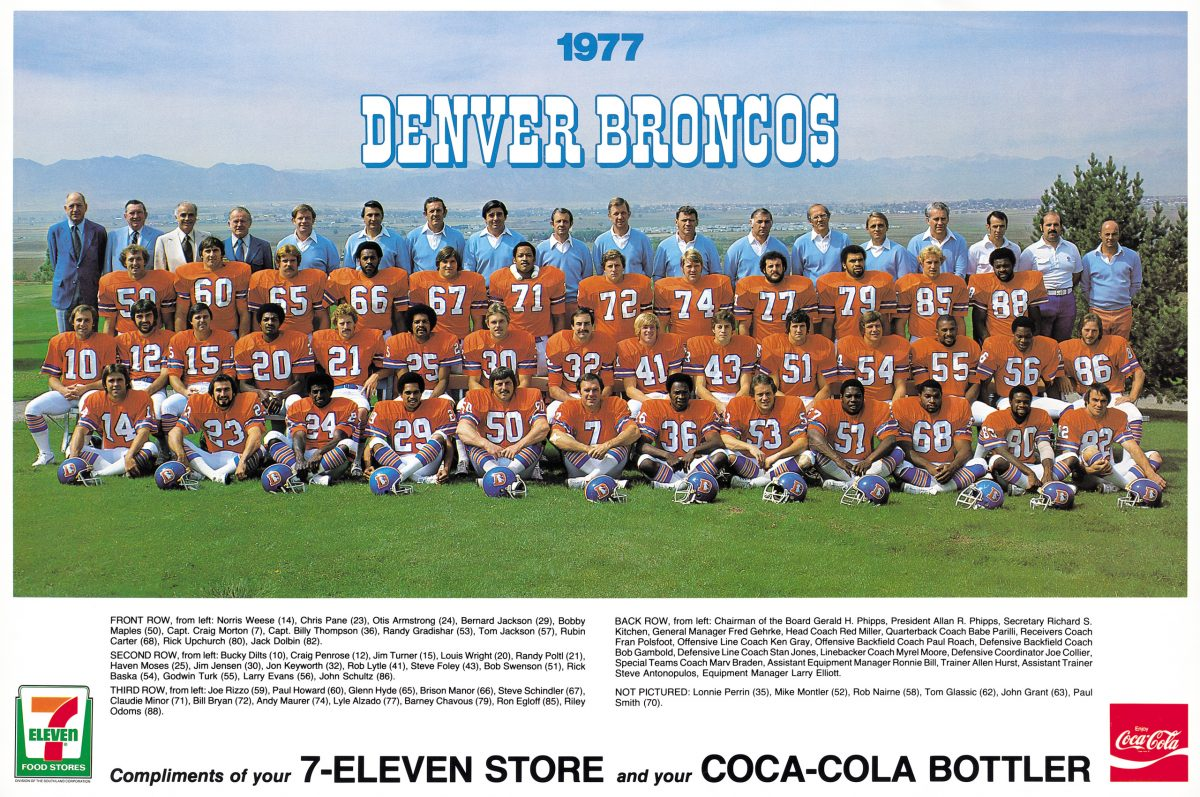 1977 Broncos team photo