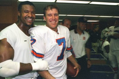 John Elway and Steve Atwater