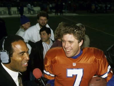 John Elway and O.J. Simpson