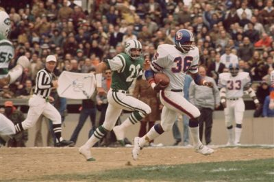 Denver Broncos Billy Thompson (36) during a game against the New York Jets