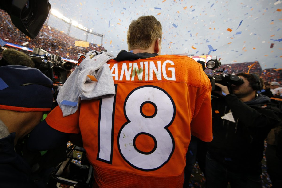 Peyton Manning after the NFL AFC Championship
